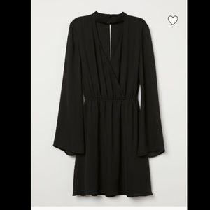 H&M Divided Wrap V Neck Choker Dress
